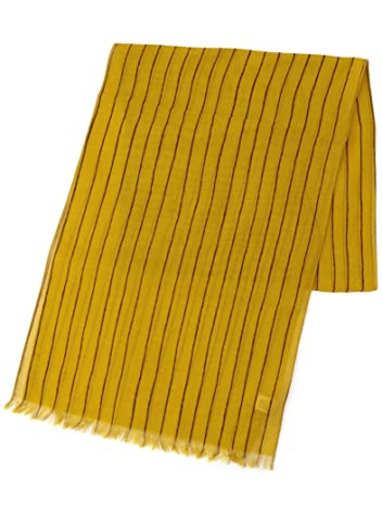 Ships Cotton Stripe Scarf 118-30-0022: Yellow