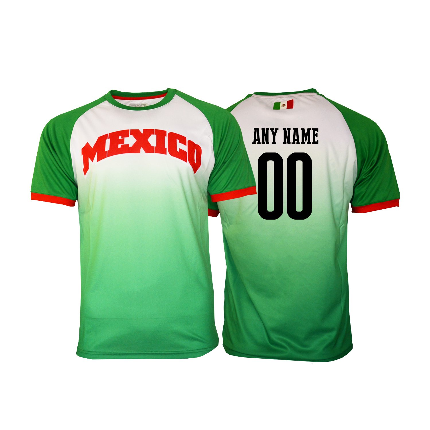 94c597e8dec Amazon.com : Pana Mexico Soccer Jersey Flag Mexican Adult Training Custom  Name and Number : Clothing