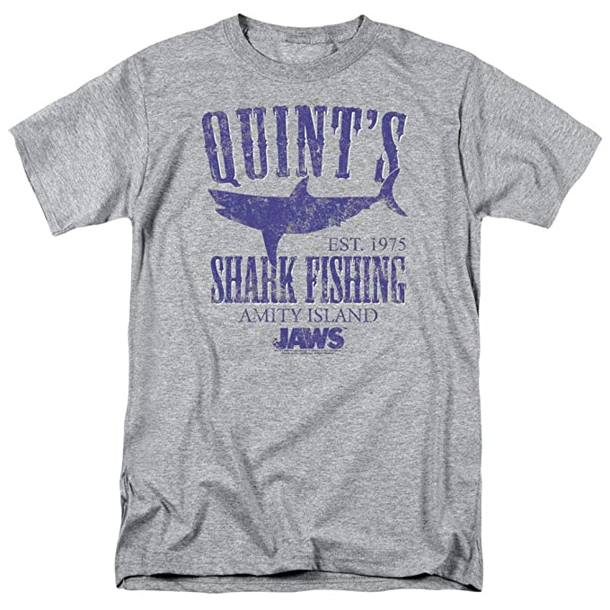 a1c769d85 Amazon.com: Jaws Movie Quints Shark Fishing T Shirt & Stickers: Clothing