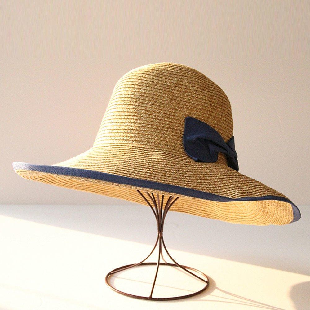 DASENLIN Hut, Strohhut, Woven Sun Helm, Anti UV Außen Folding Strand-Ferien-Tour