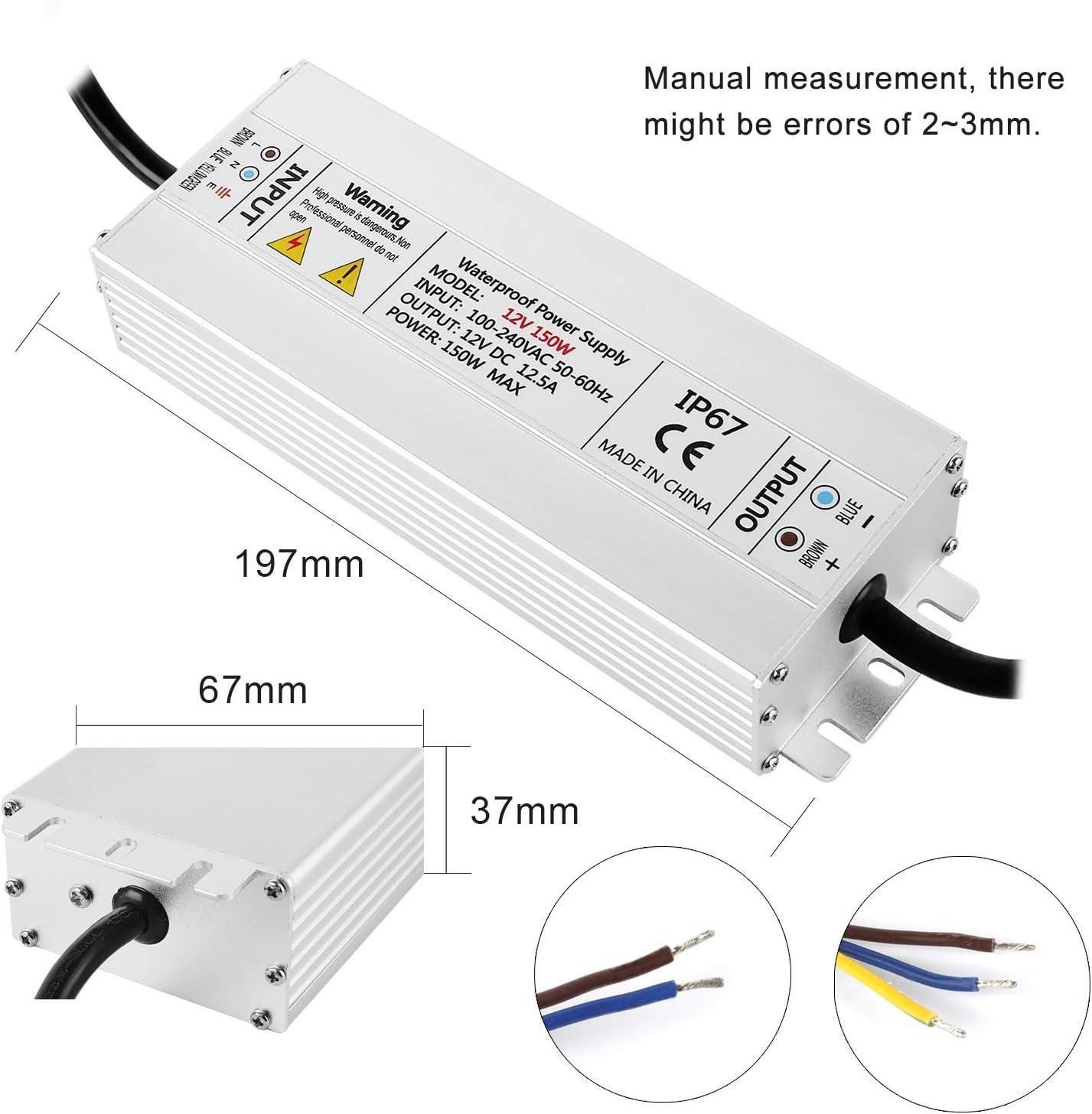 LED Transformator Netzteil 12V 100W//8,3A Transformator Netzadapter Adapter Driver