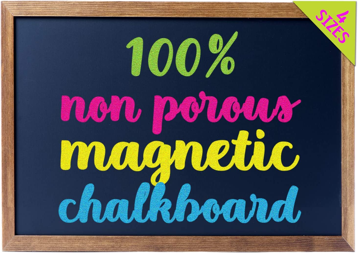 "Cedar Markers 36""x24"" Big Chalkboard with Wooden Frame. 100% Non-Porous Erasable Blackboard and Whiteboard for Liquid Chalk Markers. Magnet Board Chalk Board Decorative Chalkboard for Parties (36x24)"