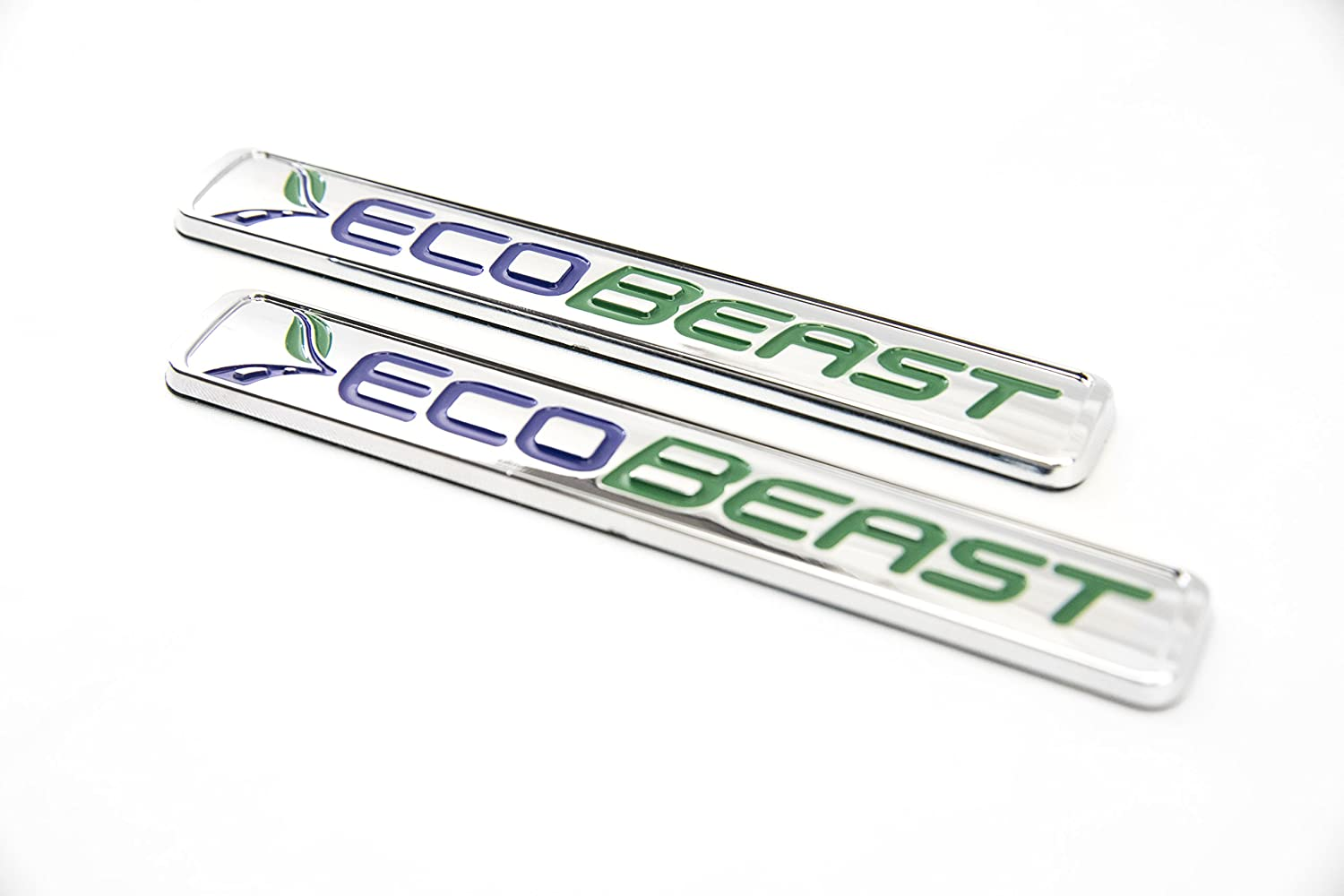Truck Emblem Warehouse 2 New Chrome 2011-2018 F150 ECOBEAST Badges Emblems Pair Set