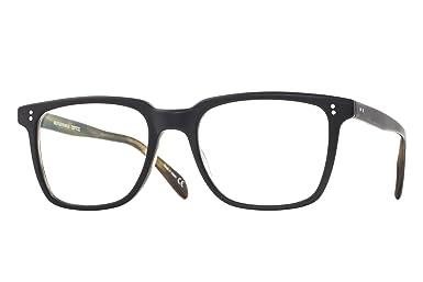 9b8aea4e9c7 Amazon.com  Oliver Peoples 5031 Men s NDG Matte Black Olive Tortoise Square  50mm Eyeglasses  Clothing