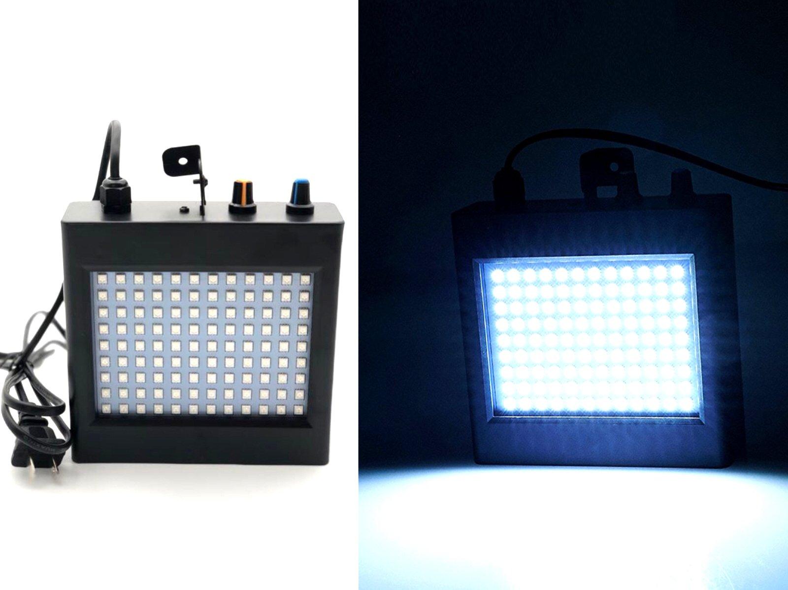 Pulse Strobe Light 108 White LED Auto Sound Activated Mode Adjustable Flash Speed Control 25W by zaytoner