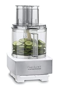 Cuisinart DFP-14BCWNYAMZ Food Processor, 14 Cup, Stainless Steel, White