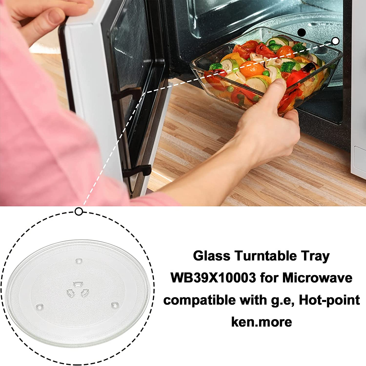Kitchen & Dining Compatible with G.E & Samsung Microwave Replaces ...