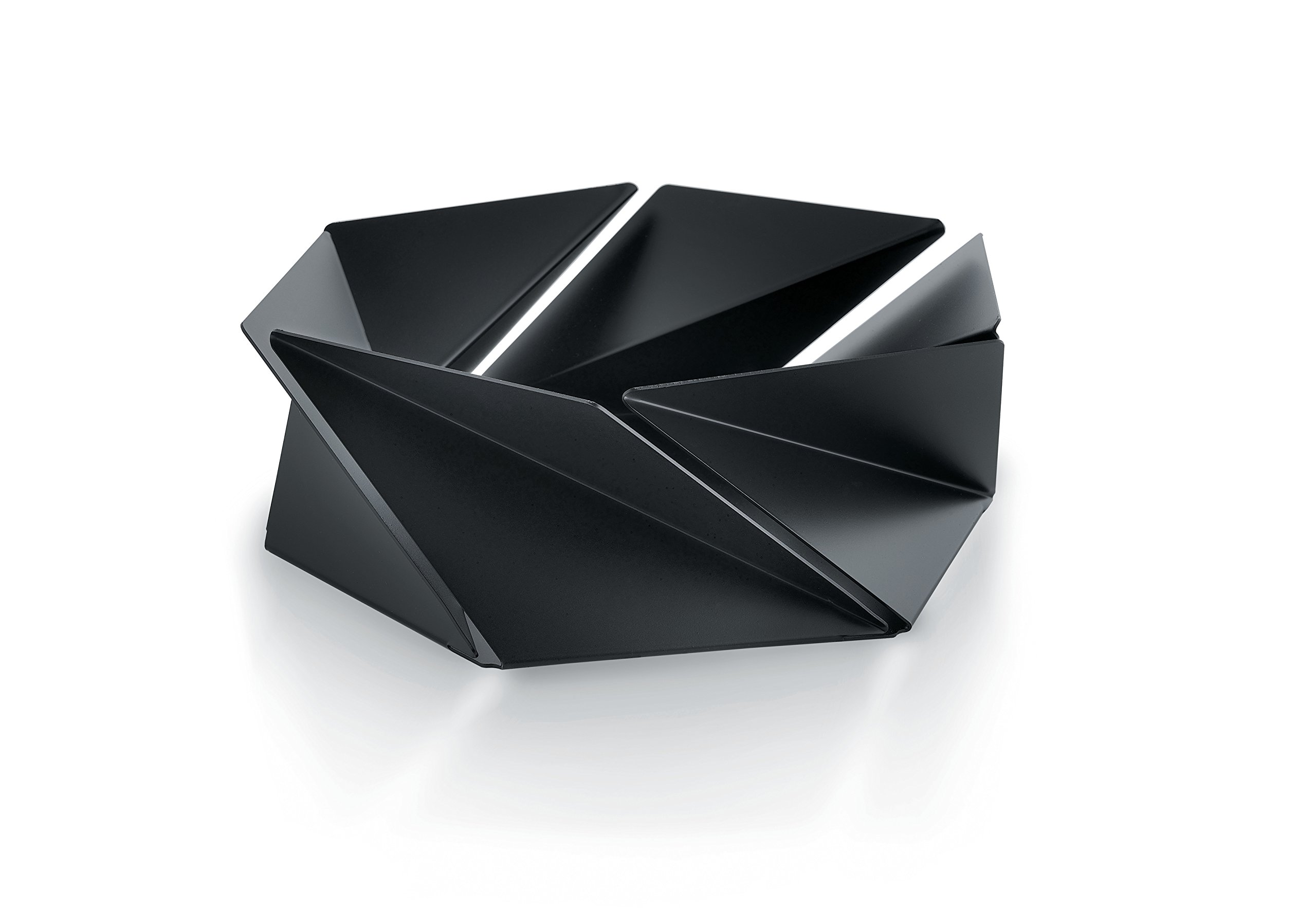 Alessi''Kaleidos'' Basket in Steel Colored with Epoxy Resin, Black