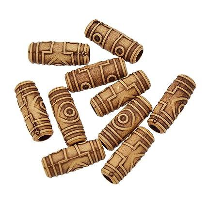 YNuth 10pcs Dreadlock Beads Anillos de Rastas Abalorios de Rastas para  Decoración de Pelo Trenzado Color da80f0936561