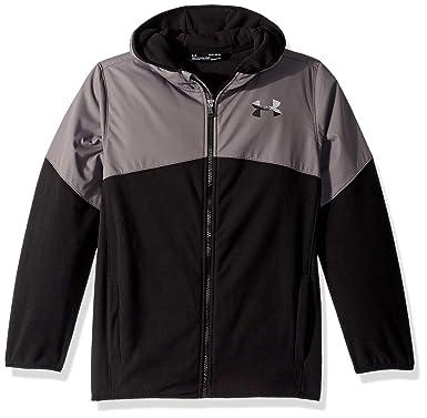 a524acc1 Under Armour Boys' Big Print North Rim Micro Fleece Jacket, Black, Small (