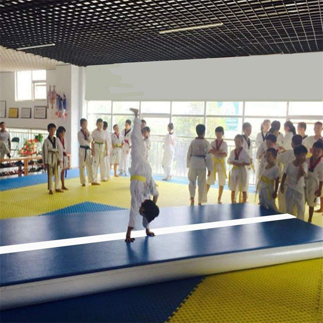 Amazon.com: Taekwondo Cushion Inflatable Mat Gymnastics Air ...