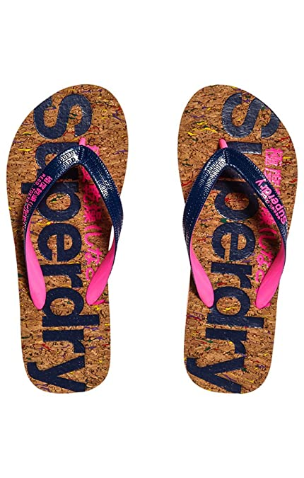Superdry Flip Flop, Tongs Femme, Multicolore (Multi Fleck Cork French Navy  NY9 bdb64bdf8608