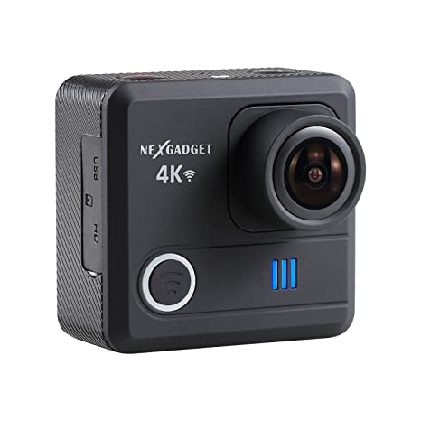 a545b4f9c74 Buy NEXGADGET 4K WIFI Action Camera 16MP 4K Waterproof Sports Camera 170  Degree Ultra Wide-Angle Lens 2 Pcs Rechargeable Batteries (Black) Online at  Low ...