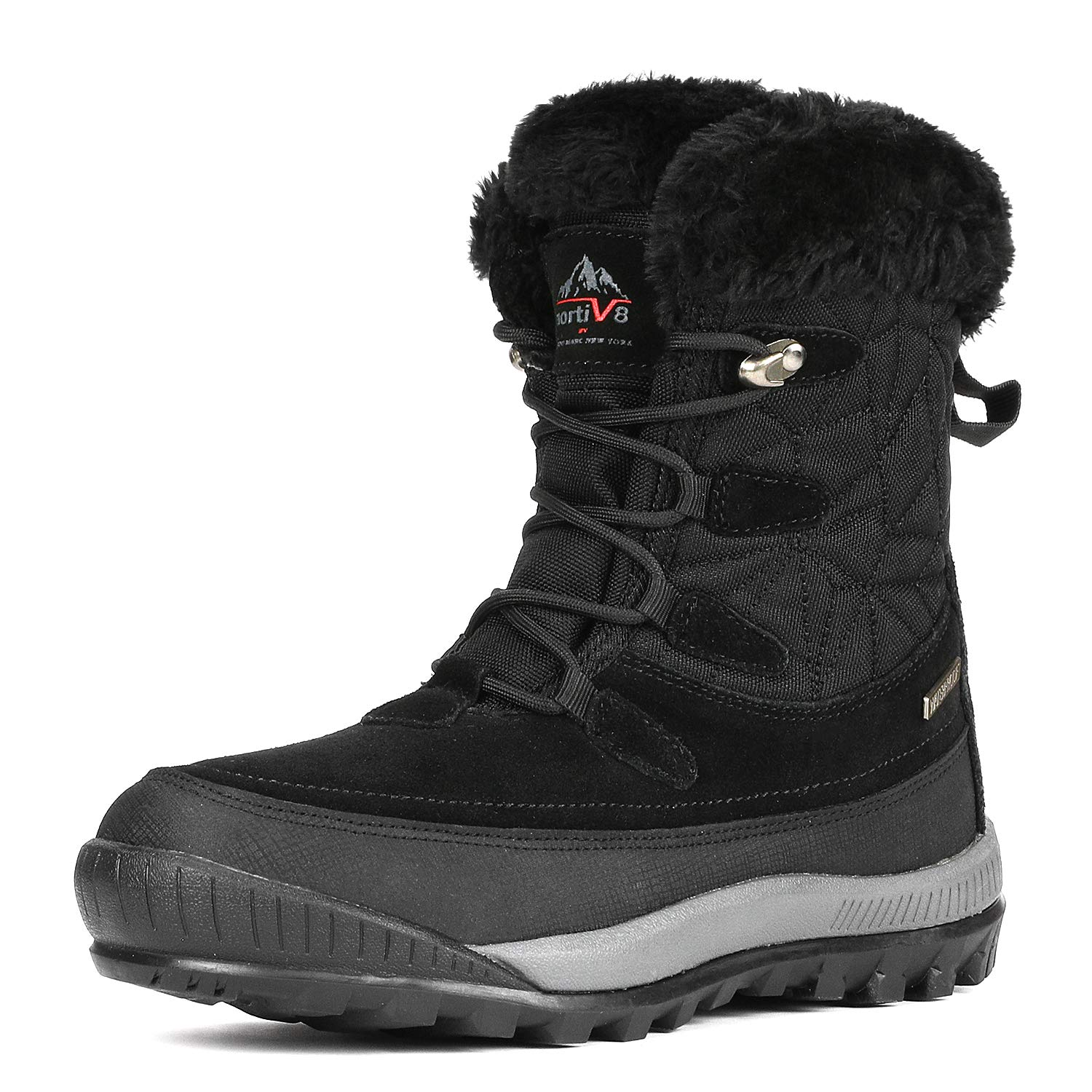 NORTIV 8 Women\'s A0052 Insulated Waterproof Construction Hiking Winter Snow Boots