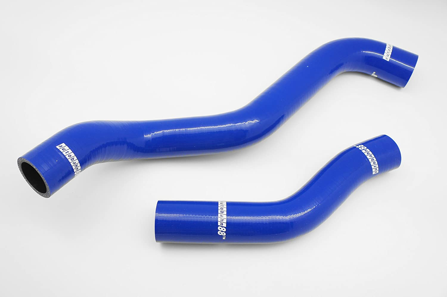 Autobahn88 Radiator Coolant Silicone Hose Kit for 1992-1996 Mitsubishi Lancer Evolution EVO 1 2 3 CD9A CE9A 4G63 Blue -with Clamp Set