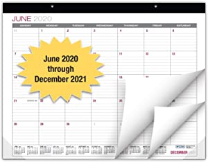 "Professional Desk Calendar 2020-2021: Large Monthly Pages - 22""x17"" - Runs from June 2020 Through December 2021 - Desk/Wall Calendar can be Used Throughout 2020-2021"