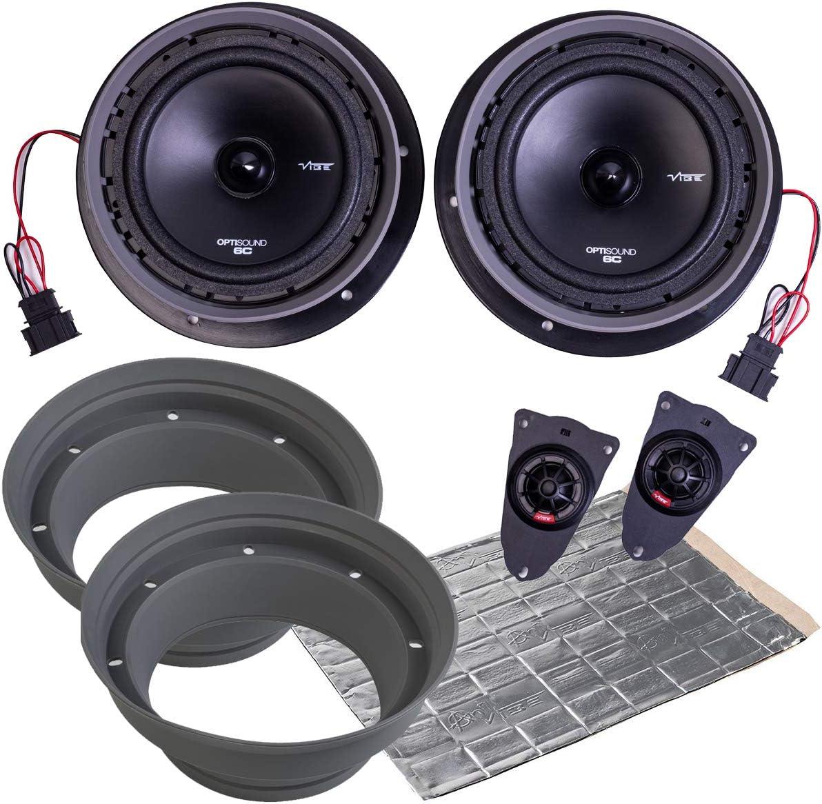 Vibe Optisound Lautsprecher Set Für Vw T5 Passgenau Schwarz Audio Hifi