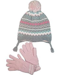 9e995821e Amazon.com  Carter s Girls Fair Isle Pom Pom Winter Hat and Mitten ...