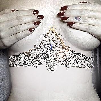 Lzc Trop Grand Tatouage Metallique Temporaire Adulte Sexy Femme Pour