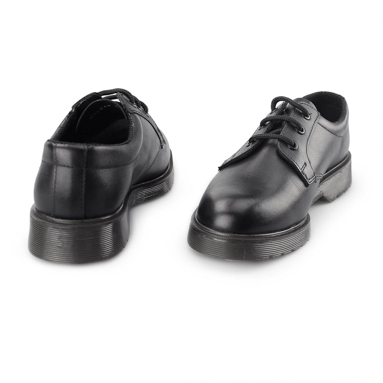 Grafters - Zapatos de cordones para mujer, color negro, talla 42.5