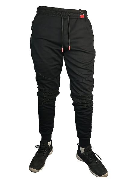 Pantalón hombre deportivo chandal (XL, Negro): Amazon.es: Ropa y ...