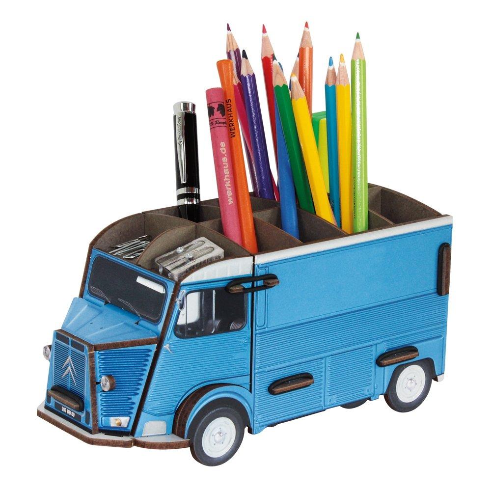 Werkhaus - BOITE à CRAYON FOURGON Couleur - Bleu, Taille - T.U