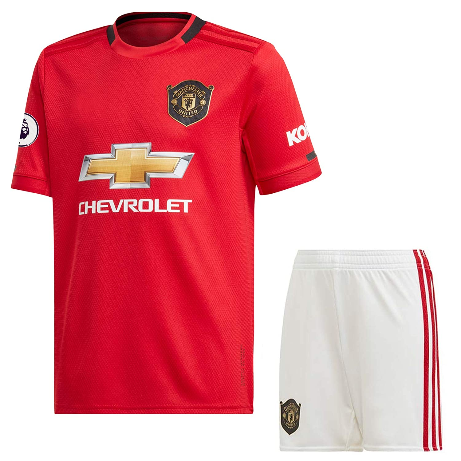 Epl Patch Manu Imported Master Quality Regular Fit 2019 20 Manchester United Home Football Jersey With Shorts L Amazon In Sports Fitness Outdoors