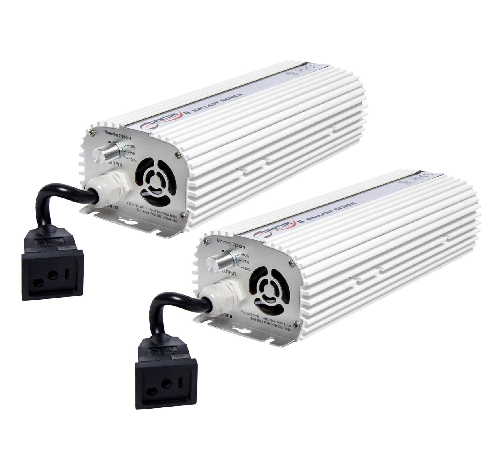 (2) QUANTUM 600W Watt HPS & MH Dimmable Digital Grow Light Lamp Ballasts | QT600