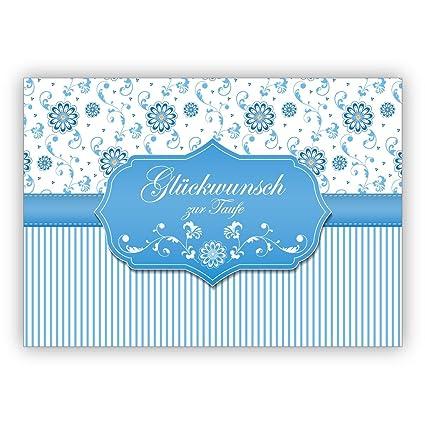 Hellblaue Edle Grußkartetaufkarte Als Glückwunsch Zur Taufe