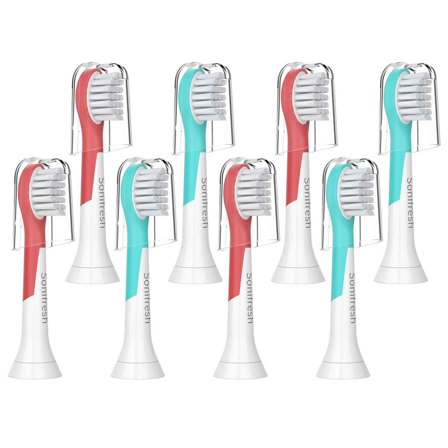 Kids Replacement Brush Heads, Compact Toothbrush Heads for Kids 3-7 Years Old,Compatible with Philips Sonicare Kids HX6032/94, HX6340, HX6321, HX6330,HX6331, HX6320, HX6034, 8 pack