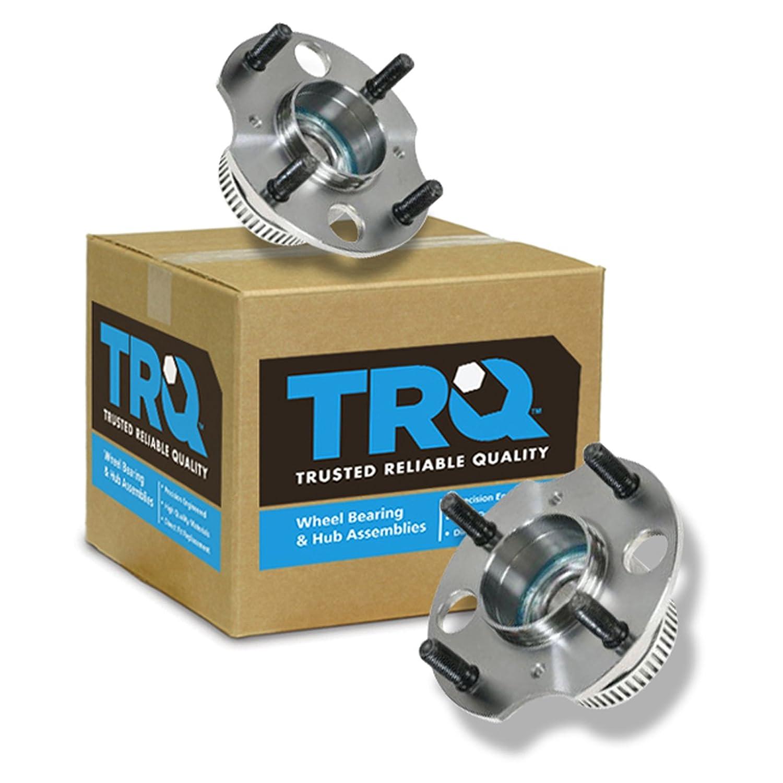 TRQ Rear Wheel Hubs /& Bearings Pair Set for 92-96 Honda Prelude