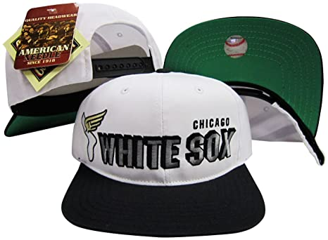 8083c6d9aa1 Image Unavailable. Image not available for. Color  American Needle Chicago  White Sox Two Tone Plastic Snapback Adjustable ...