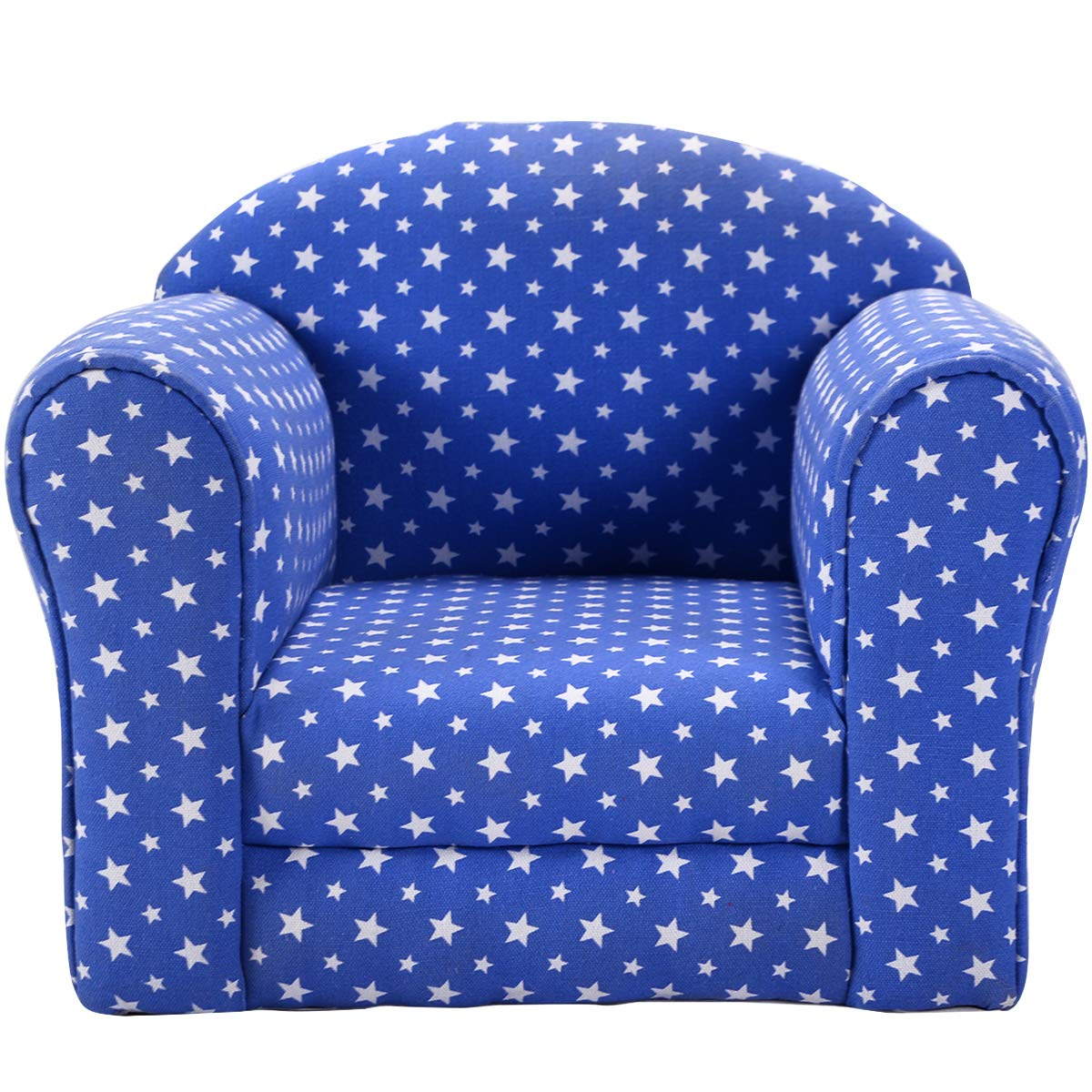 Costzon Kids Sofa Armrest Chair Couch Children Living Room Toddler Furniture (Star, Blue) by Costzon