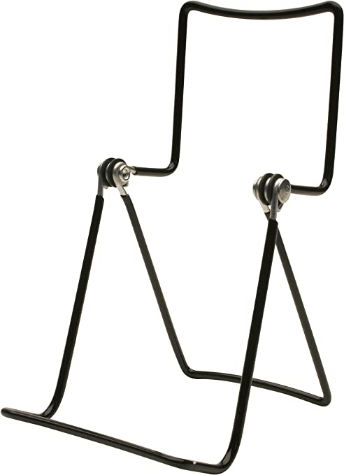 Black 6 Gibson Holders Adjustable Wire Display Easels 3.75 W x 8 H with 2.25 display ledge