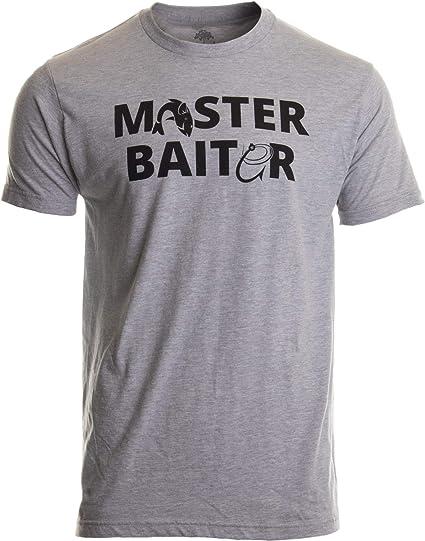 Master Baiter Funny Fishing T Shirt Joke Fisherman Tee Men/'s Comedy