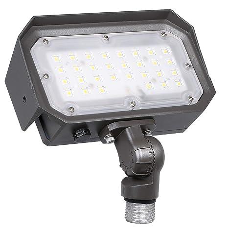 Hykolity 30w Knuckle Mount Led Security Flood Light 3600lm Dusk To Dawn Led Landscape Lighting Outdoor 5000k Daylight 150w Mh Equivalent For