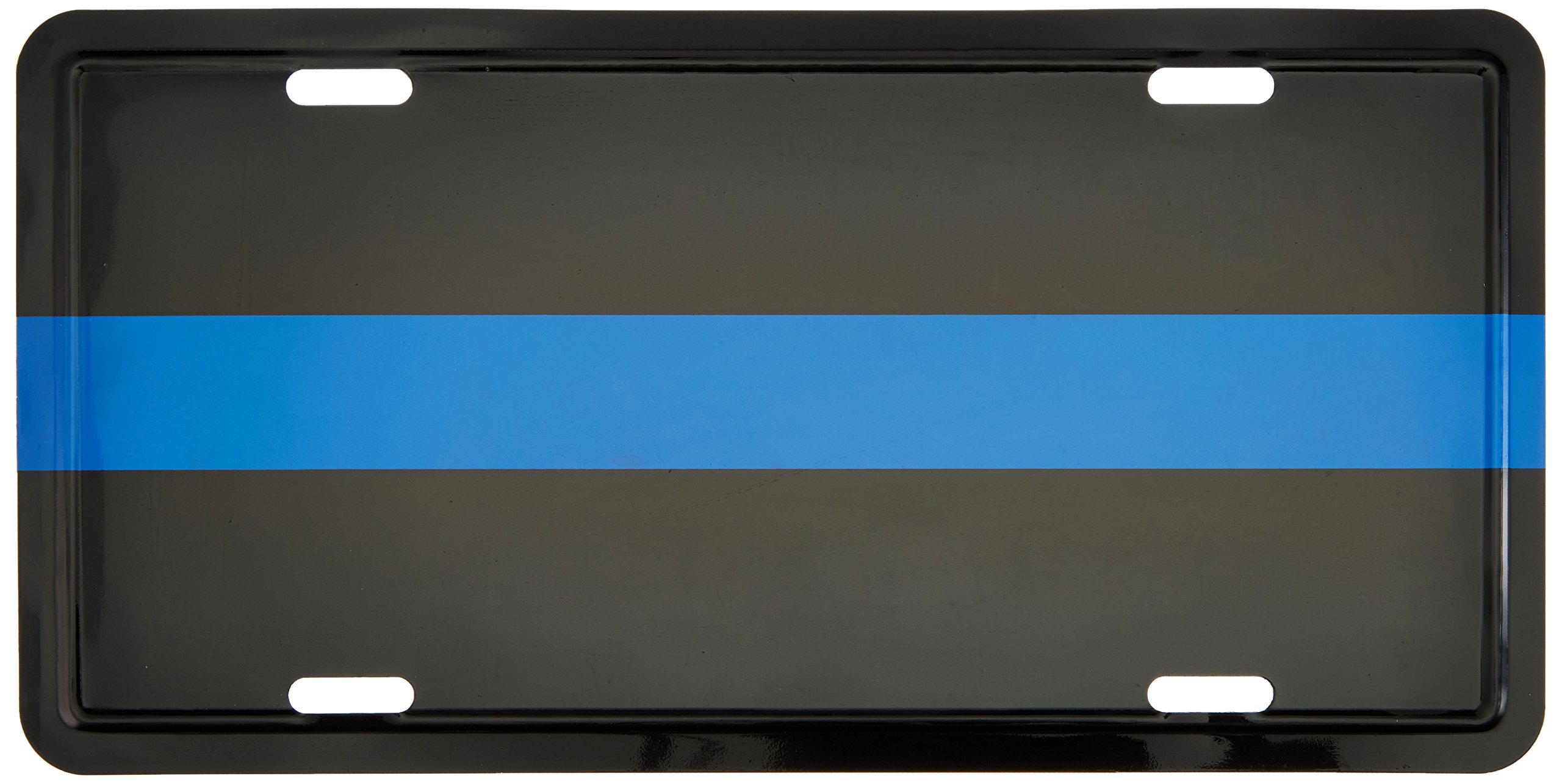 Police Thin Blue Line Metal Tag Reflective by Ruffin Flag Company (Image #1)