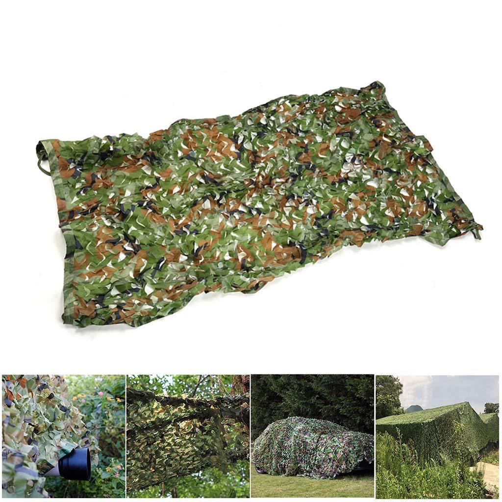 迷彩網、日よけのキャンプの探求の写真撮影の軍隊のための網が付いている迷彩の網 (サイズ さいず : 4x6m) 4x6m  B07Q15C27J