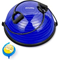 EveryMile Half Ball Balance Trainer Stability Yoga Exercise Ball with Resistance...