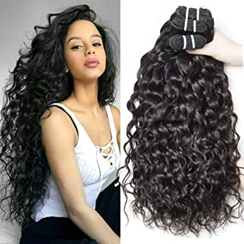 Yavida Curly Human Hair Bundles Brazilian Hair Water Wave 3 Bundles