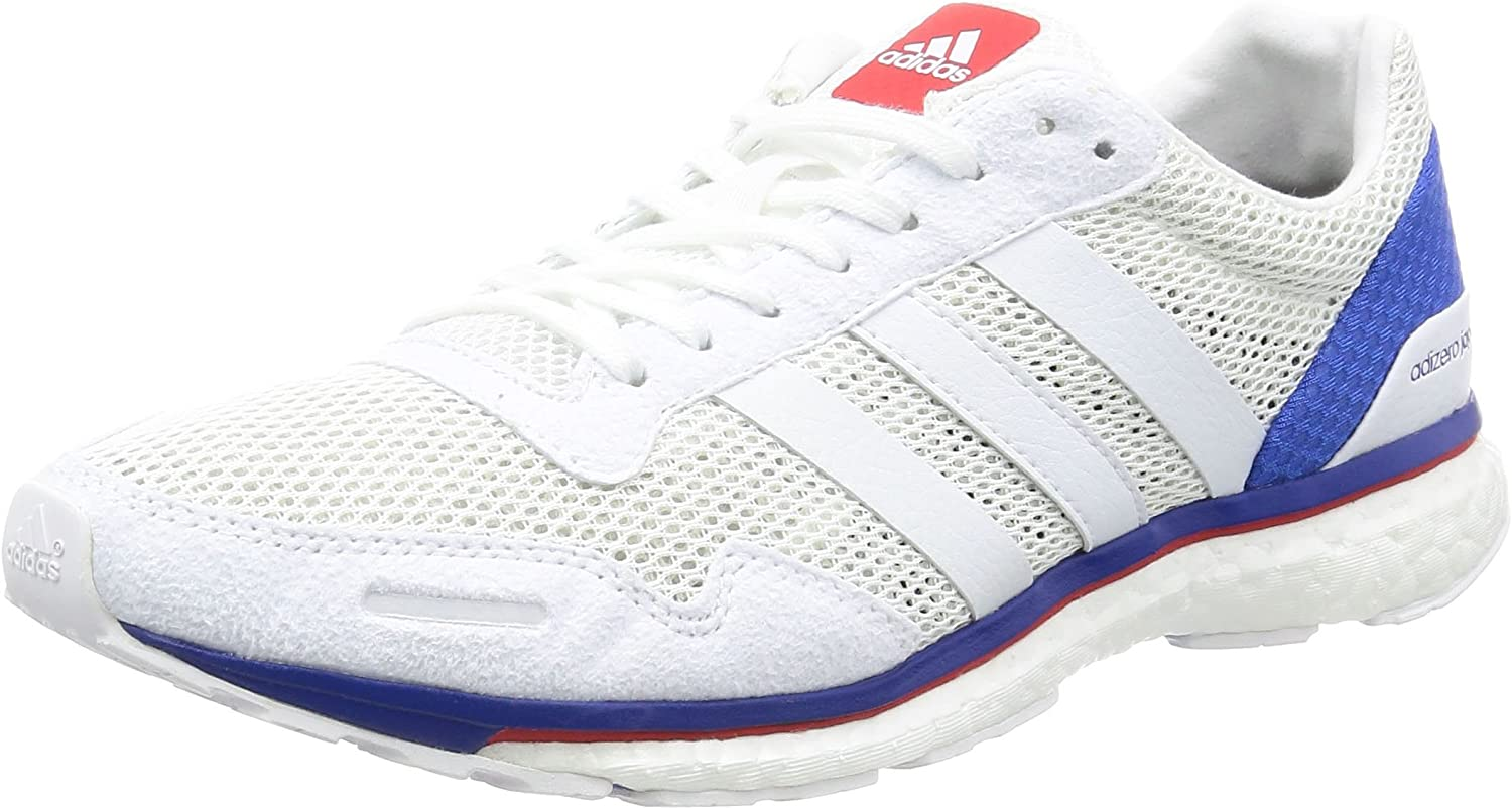 Responder levantar Máquina de recepción  adidas Adizero Adios 3 Aktiv Running Shoes - SS17-6 White: Amazon.co.uk:  Shoes & Bags