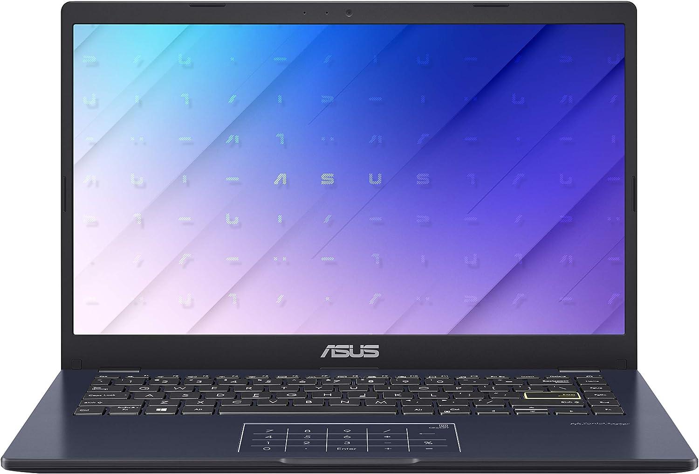 "ASUS Laptop L410 Ultra Thin Laptop, 14"" FHD Display, Intel Celeron N4020 Processor, 4GB RAM, 64GB Storage, NumberPad, Windows 10 Home in S Mode, Star Black, L410MA-DB02"