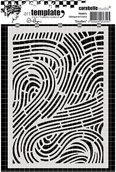 Carabelle Studio TE60071 Stencil Mask A6 Courbes Curves
