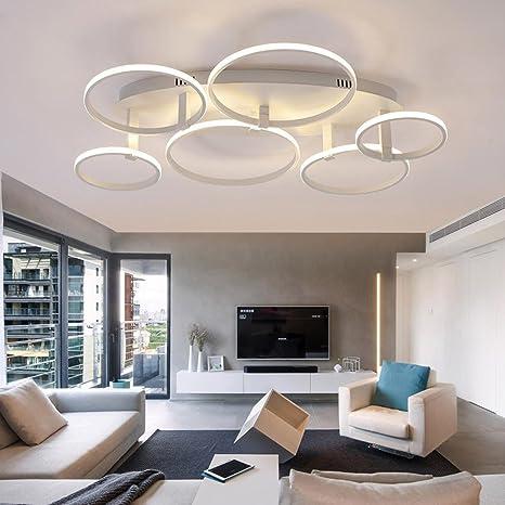 Creativo 6-Rings Fiore Design Plafoniera LED Moderno Lampada da ...