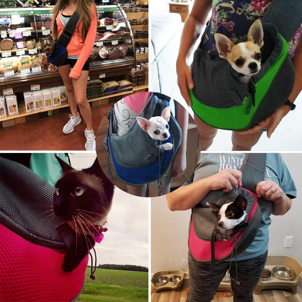 PETEMOO Bandolera para Perro Transport/ín Bolsa de Viaje para Mascotas Bolsa Portador de Perro Bolso de Hombro para Perros Gatos