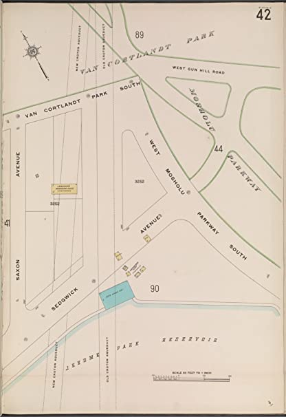 Amazon.com: Map Poster - Bronx, V. 13, Plate No. 42 [Map bounded by ...