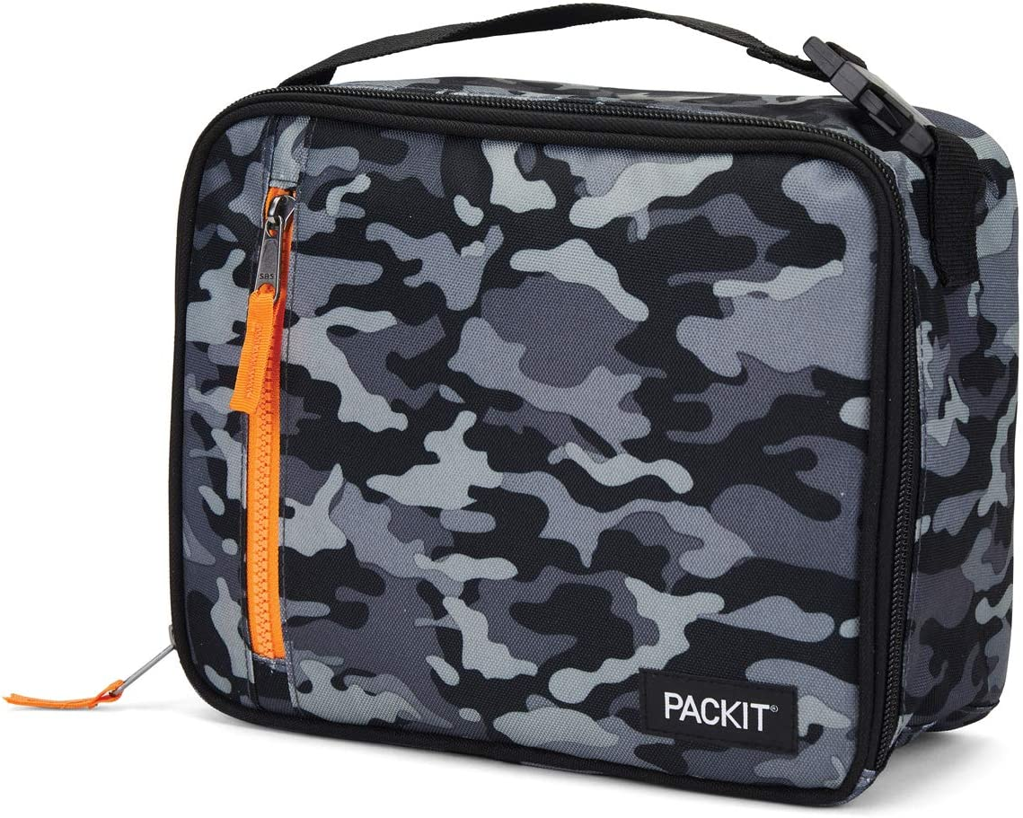 Packit Lunch Food Cooling Box Con forro de gel, Tela de poliéster, Camuflaje carbón: Amazon.es: Hogar