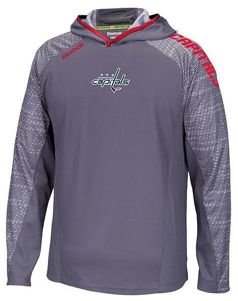 f49e4226f2c5c Reebok Washington Capitals NHL 2016 Center Ice Training Lightweight  Sweatshirt