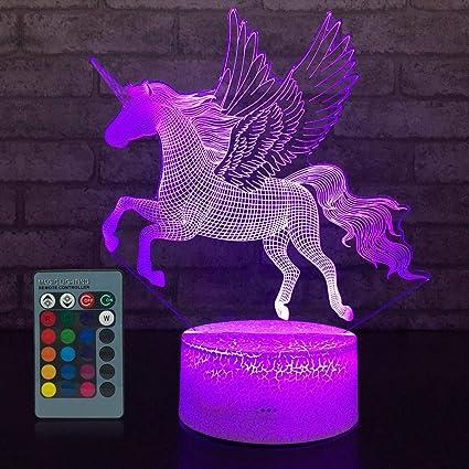 Jmllyco Unicorn Light Unicorn Lamp Kids Night Light 16 Colors