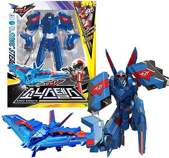 New Battleplane Transformation Robot Super Sonic  Action Figure  Model Toy SET